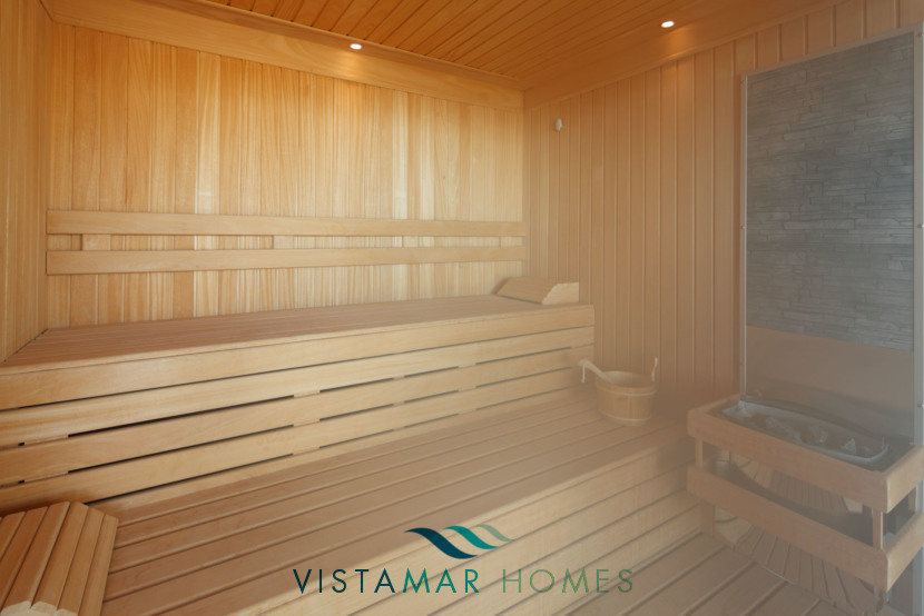 Sauna at the Wellness Centre · VMV010 Exclusive Residential Homes in Benahavis