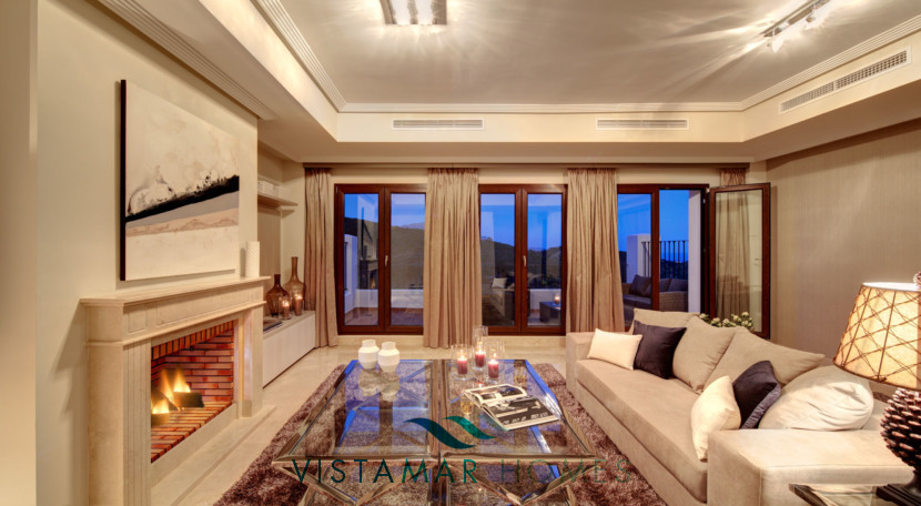Living Rooms with Fireplace  · VMV010 Exclusive Residential Homes in Benahavis