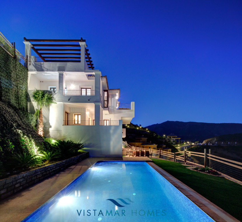 Private Pool and Garden with Sea and Mountain Views · VMV010 Exclusive Residential Homes in Benahavis