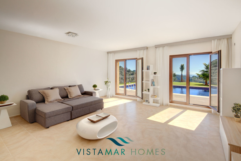 Living Room with exit to garden · VMV010 Exclusive Residential Homes in Benahavis